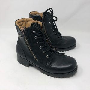 Harley-Davidson Black Leather Moto Boots 10